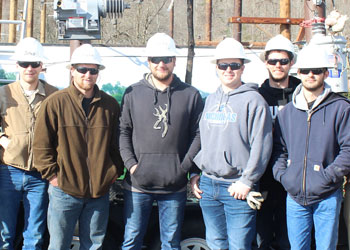 MCTC lineman students Spring 2018