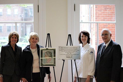 image of Barb Campbell, Dr. JoAnne Young, Ann Flora and President Ed Story