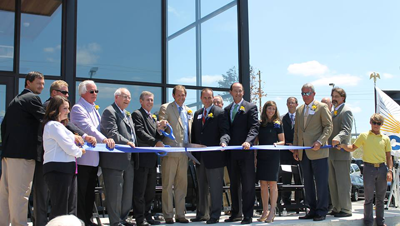 image of the ribbon cutting at the Montgomery Extension