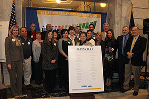 image of the MCTC Business Champions at the visit in Frankfort, Kentucky