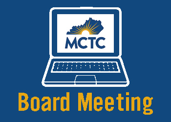 A white illustration of a computer with an MCTC logo on the screen against a blue background.