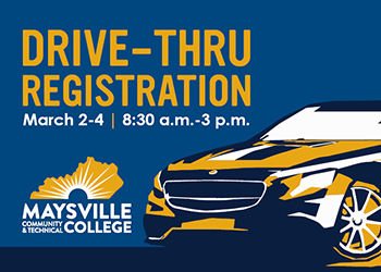 Blue and gold car illustration with MCTC logo.