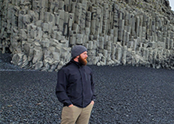 Jacobe Wolfe during his recent trip to Iceland.