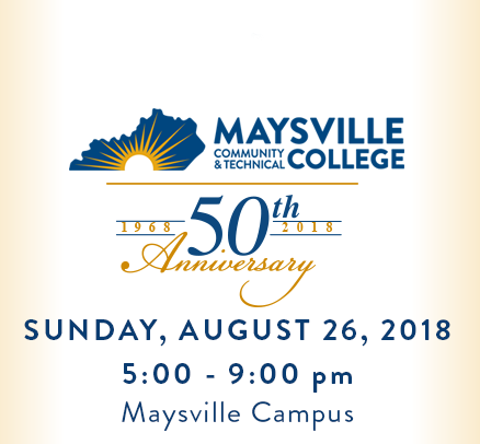 Maysville Community and Technical College (MCTC) will host a 50th Anniversary Celebration at 5 pm on August 26th on the front lawn of its Maysville Campus. All students, faculty, staff, alumni, community partners and friends and family are encouraged to attend.